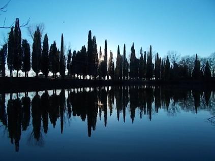 villa-arceno-edicolo-di-dioniso-viale-cipressi-riflessi-sullacqua-lago-6