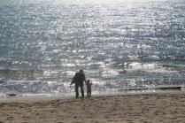 nonno e bambino di castiglion della pescaia