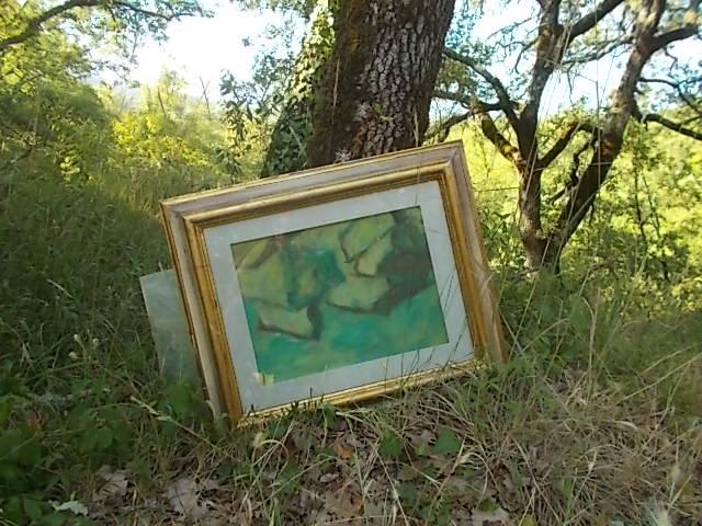 quadro abbandonato cassonetti cavarchione via per vertine