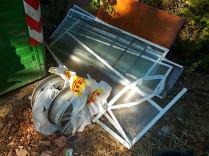 gaiole castelnuovo berardenga, spazzatura per le strade (3)