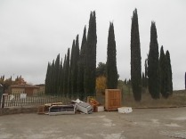 arredamenti della berardenga, rifiuti abbandonati davanti la sede della racchetta (14)