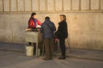 castagne in piazza della posta