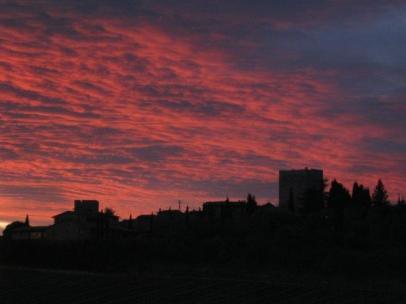 vertine tramonto