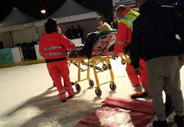 scivolata sul ghiaccio, foto da lecce news