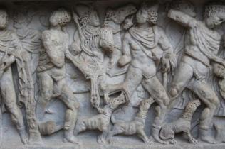 mito di meleagro cacciatore di cinghiali sarcofago salerno (7)