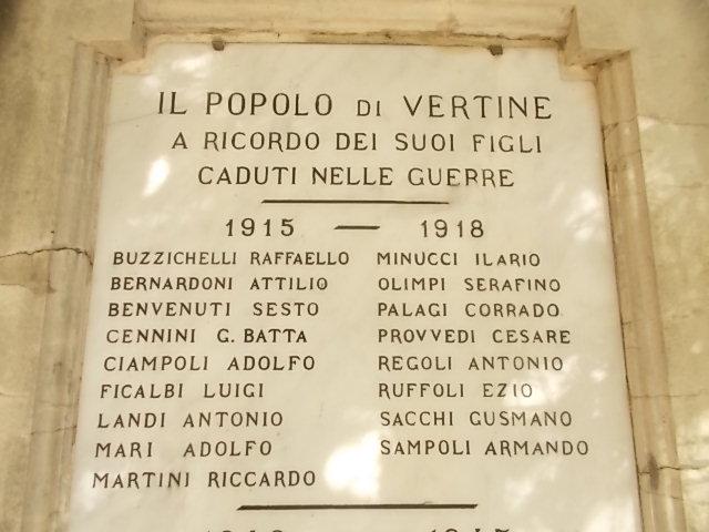 vertine monumento ai caduti prima guerra mondiale