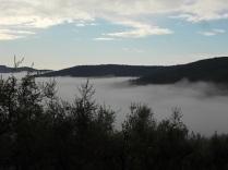 nebbia castello di meleto e sfondo dell'amiata (14)