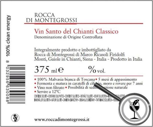 controetichetta vinsanto rocca di montegrossi