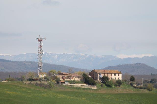 neve prato magno vista da torre a castello