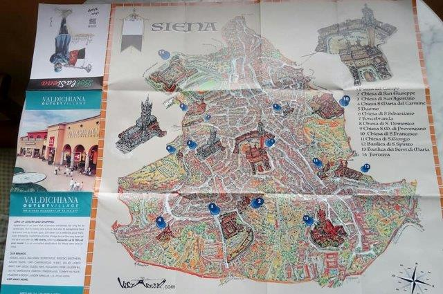 mappa siena outlet
