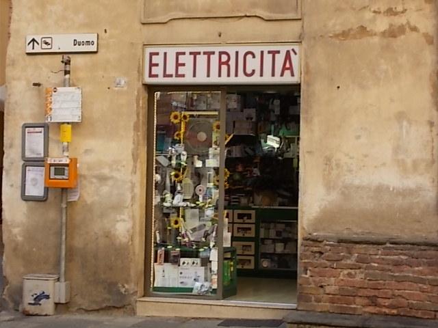 angela negozio elettricità piazza postierla
