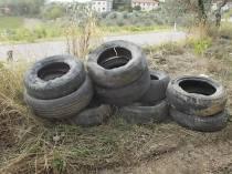 gomme auto abbandonate villa a sest (4)