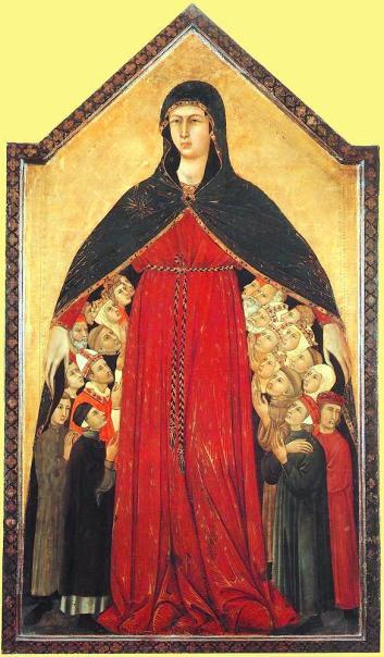 madonna misericordia foto dal tesoro di siena